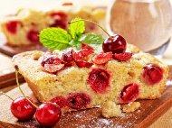 Лесен кекс / сладкиш с череши (без мляко)